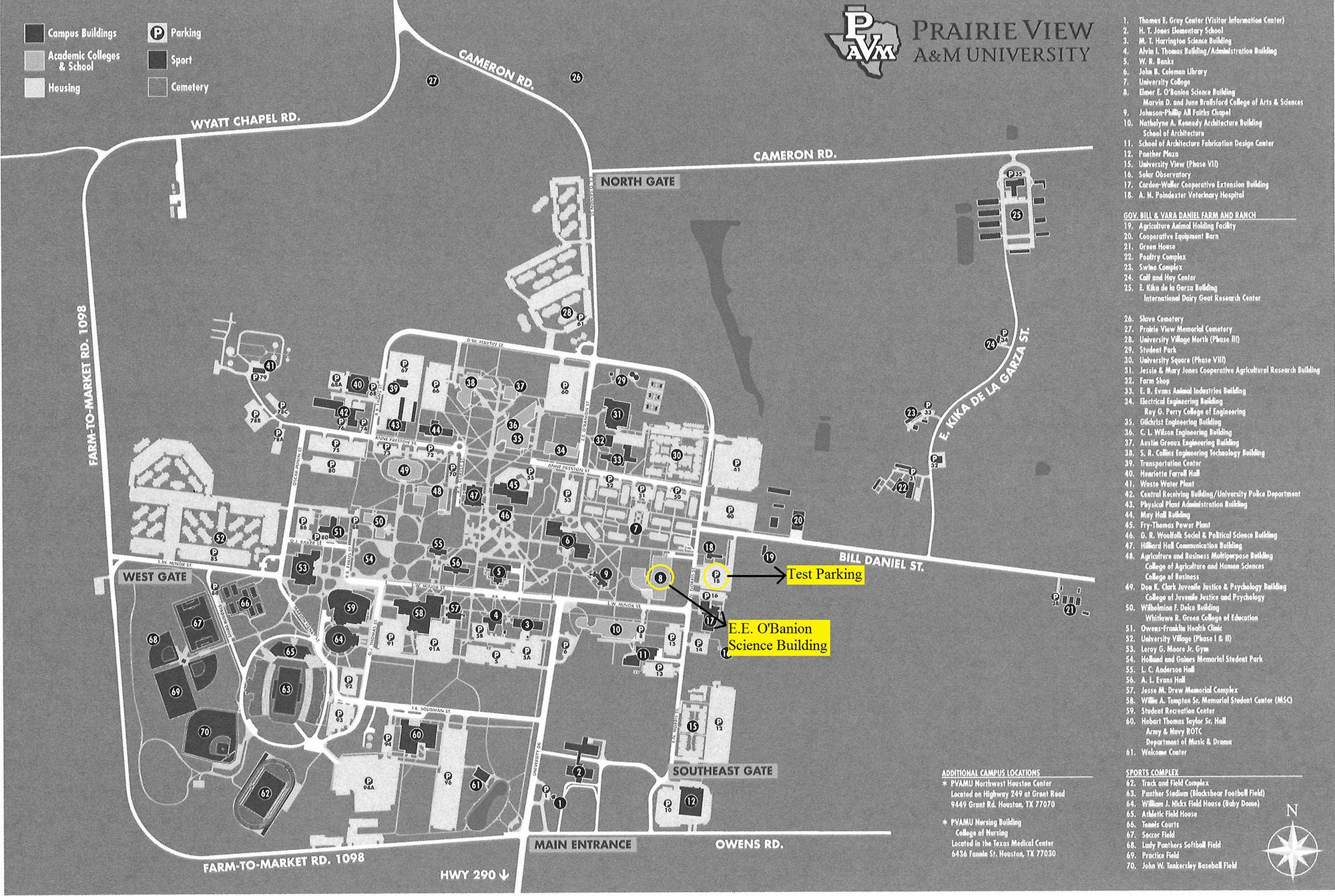Pvamu Campus Map