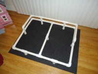 "Pictures of a ""build it yourself"" PVC raised dog bed"