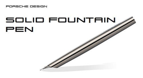 Porsche Design P3135 Solid Fountain Pen Titanium Fine