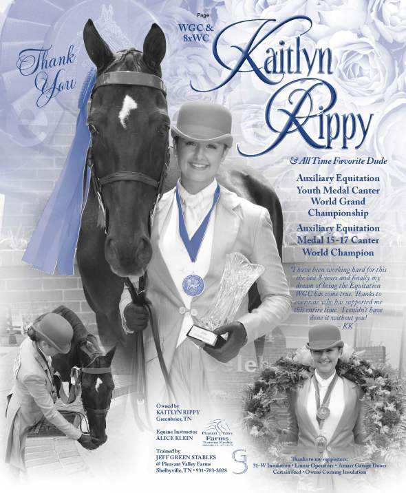 WGC Kaitlyn Rippy Equitation Rider and All Time Favorite Dude