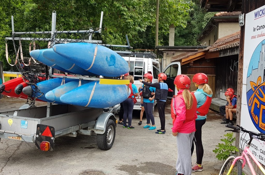 Très motivés à découvrir le kayak !