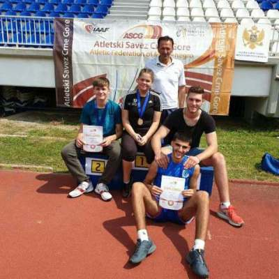 Mladi atletičari Rudara ostvarili dobre rezultate na prvenstvu Crne Gore za mlađe juniore