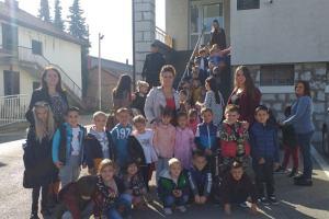 """Mališani vrtića """"Eko bajka"""" u posjeti Centru bezbjednosti Pljevlja"""