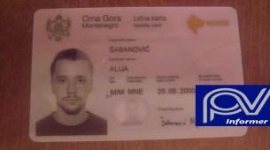 Pronađena lična karta u City kvartu na ime ŠABANOVIĆ ALIJA