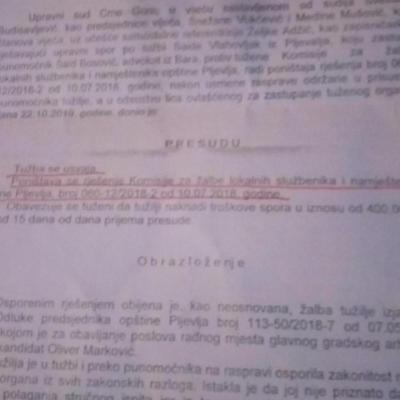 Oliver Mirković nezakonito izabran
