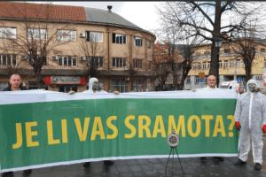 Performans Ekoloških organizacija zbog teške ekološke situacije u Pljevljima