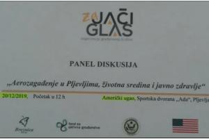 """Panel diskusija u prostorijama Američkog ugla: """"Aerozagađenje u Pljevljima, životna sredina i zdravlje ljudi"""""""