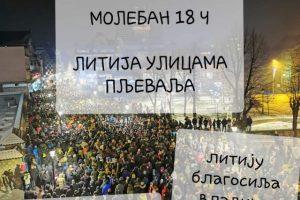 Пљеваљски одбор за одбрану светиња: Данас је дан за литију, наш благословени дар од Бога!
