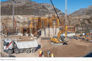Završene konstrukcije dva podvožnjaka i jednog nadvožnjaka –  VIDEO: Intenzivni radovi na petlji Smokovac