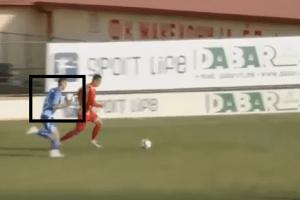 OVO MOŽE SAMO U MAKEDONIJI: Fudbaler startovao na protivnika tako što ga je gađao drugom loptom, dobio crveni (VIDEO)