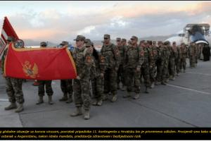 Crnogorski vojnici se vraćaju iz Avganistana