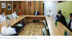 Đukanović obišao bolnicu u Beranama