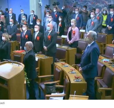 Dio poslanika DF-a nije prisustvovao intoniranju himne