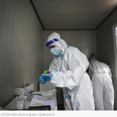 Korona ubija tri puta više nego grip i upala pluća