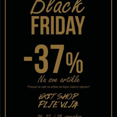 BLACK FRIDAY u EXIT SHOP-u: -37% na sve artikle