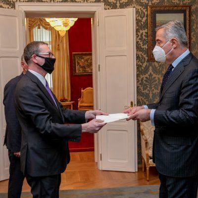 Đukanović primio akreditivna pisma novoimenovanih ambasadora Kanade, Kolumbije i Francuske