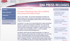 HemaSphere is an OPEN ACCESS Journal dedicated to support hematology patient care research and education worldwide