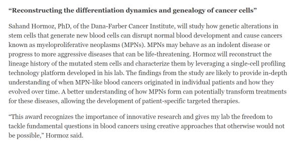 MPN research grant