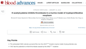 NAC supplement in MPNs, PV Reporter