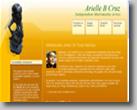 Snapshot of AB Cruz' web site in shadow background