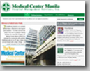 Snapshot of Medical Center Manila web site in shadow background