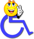 Smily Face on top of Disability Symbol
