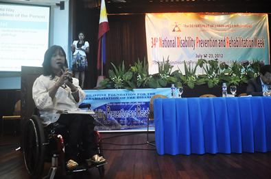 Newly appointed executive director Carmen Zubiaga explains about disability concerns.