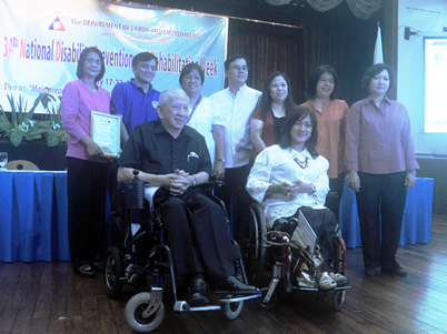 Department of Health Awardees pose together with PWAG, NCC and NCDA Officials