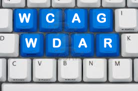 WCAG WDAR letters embedded in computer keyboard