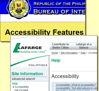 collage of two sample accessible Philippine sites