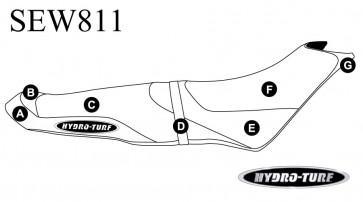 Sea-Doo Spark (14-18) 3 Seater Hydro-Turf Seat Cover SEW811