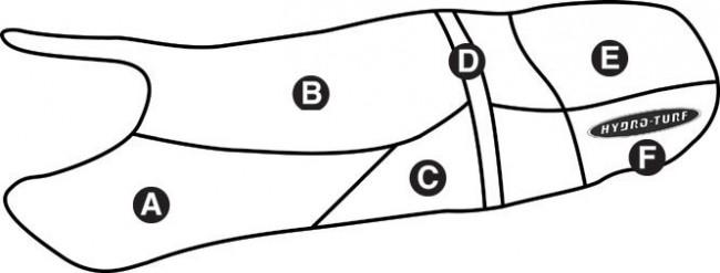 Hydro-Turf Polaris Virage TX TXI, Freedom Seat Cover sew94