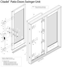 Peachtree Swing Patio Door (IPD / Citadel) - French Door ...