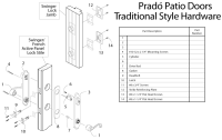 Peachtree Prado Swing Patio Door - Handle Set (Oil Rubbed ...