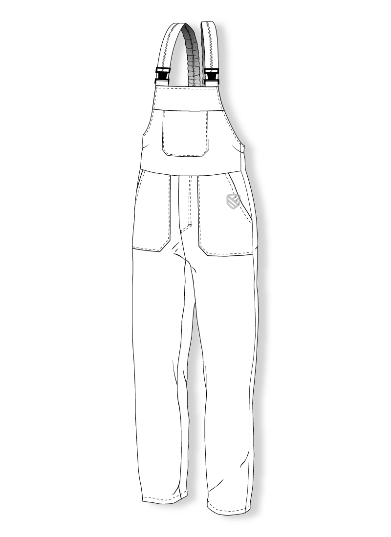 Bib and brace trousers protecting against cold K-220-09