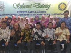 Foto bersama intruktur dan pemateri Baitul Arqom MPK PDM Lamongan di RSM Lamongan. (Foto: Dok Pribadi)