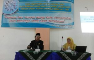 Ketua PDM Jember Kusno menyampaikan meteri di Baitul Arqom. (Foto: Dok Pribadi)
