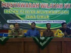 Wakil Ketua PWM Jatim Nadjib Hamid (Kiri), PP IPM, Wahyi, Sahrul