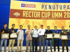 Foto bersama para pemenang Rector Cup 2017 UMM. (foto: Humas UMM)