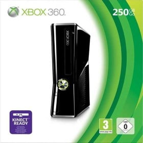 Xbox 360 Slim 250GB Console Gloss Black Xbox 360Pwned