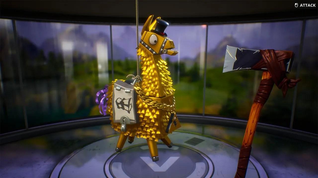 Fornite A Look At Golden Llamas Rewards Amp Loot PwrDown