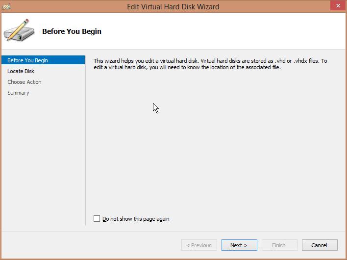 Edit Virtual Hard Disk Wizard