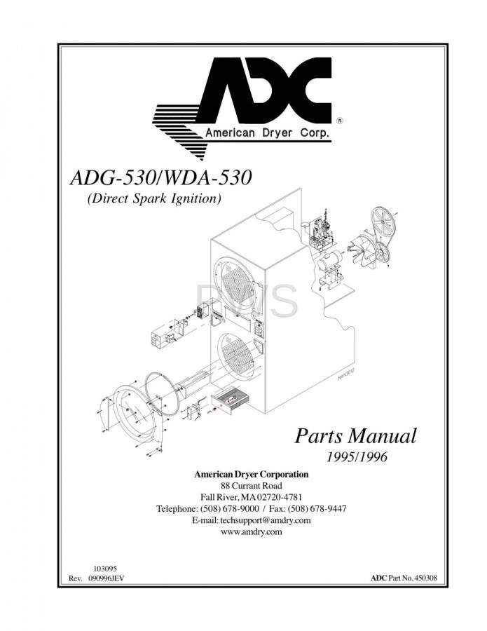 Diagrams, Parts and Manuals for American Dryer ADG-530 Dryer