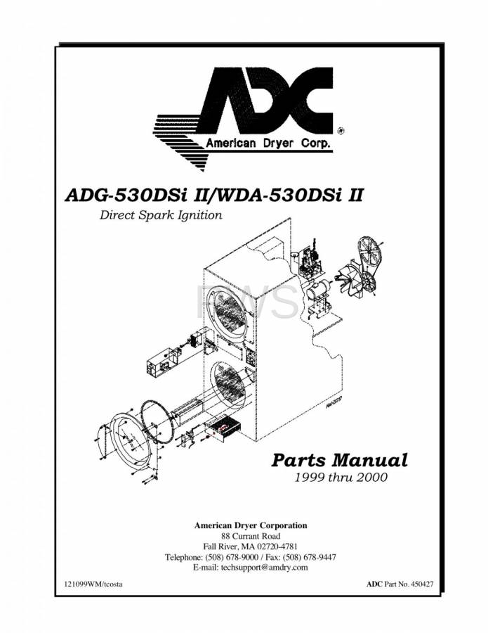 Diagrams, Parts and Manuals for American Dryer WDA-530DSi