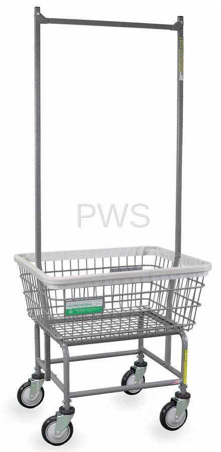 R&B Wire #100E91/ANTI Antimicrobial Laundry Cart with