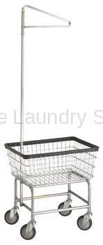 R&B Rolling Standard Laundry Cart/Chrome Basket P/N 100E91