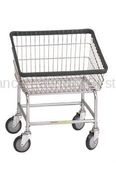 R&B Large Capacity Front Load Laundry Cart/Chrome Basket P