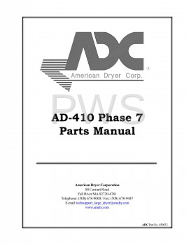 Diagrams, Parts and Manuals for American Dryer AD-410 Dryer