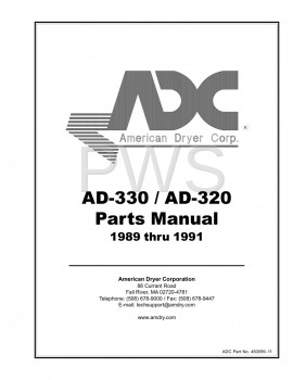 Diagrams, Parts and Manuals for American Dryer AD-330 Dryer