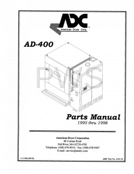 Diagrams, Parts and Manuals for American Dryer AD-400 Dryer